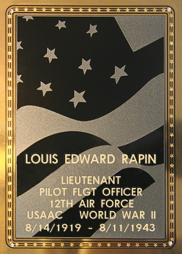 Louis E. Rapin Plaque