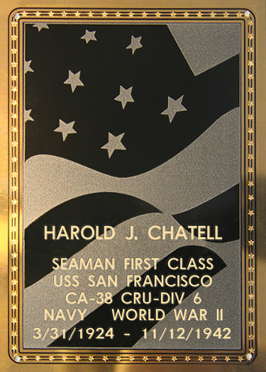 Harold J. Chatell Plaque