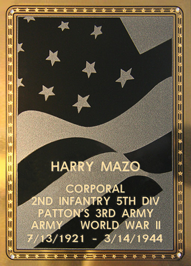 Harry Mazo Plaque